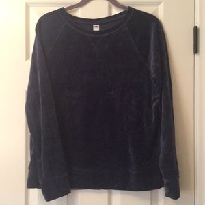 Velour Old Navy Crewneck Sweatshirt
